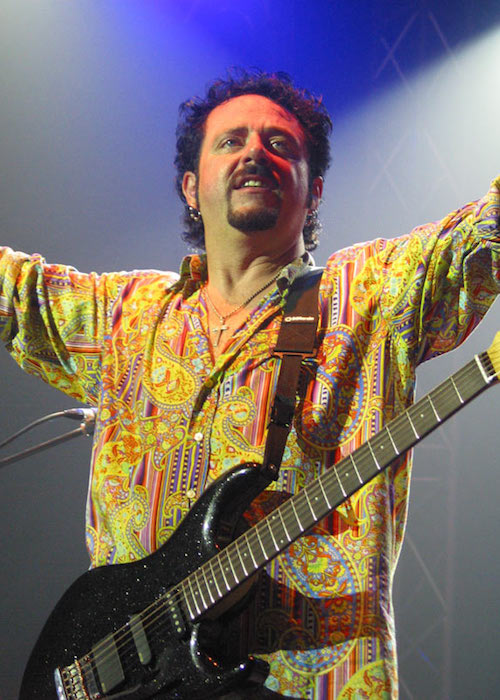 Steve Lukather performing at a concert in 2005