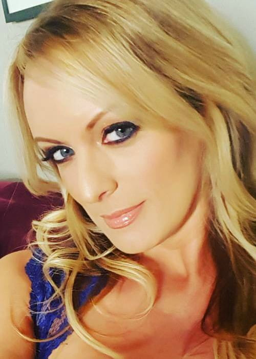 Stormy Daniels in an Instagram selfie as seen in January 2018