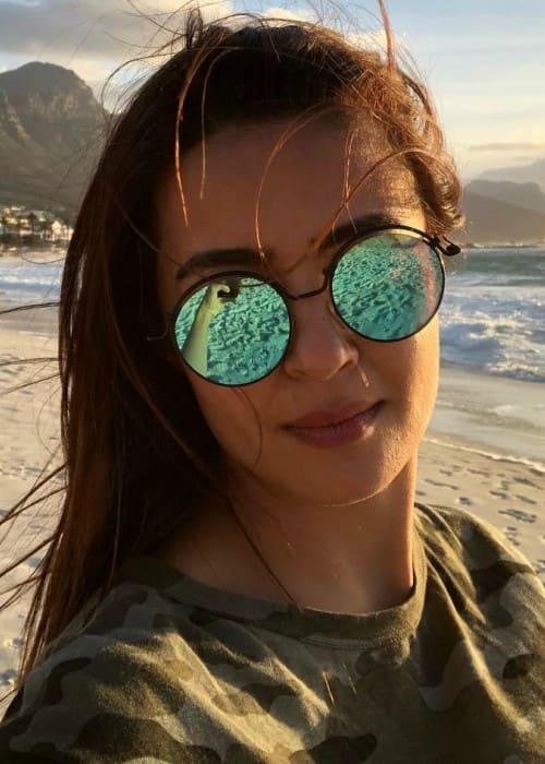 Surveen Chawla in an Instagram selfie as seen in January 2018