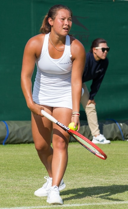 Tara Moore while competing at the Wimbledon Qualifying Tournament in England in June 2015