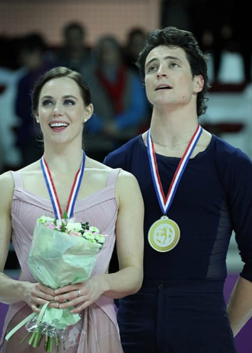 Tessa Virtue and Scott Moir at the 2016 Grand Prix Final