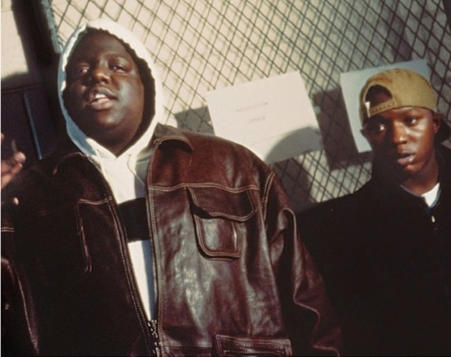 The Notorious B.I.G (Left) with Lil Cease