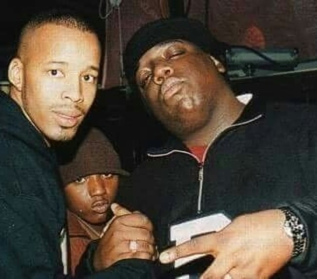 The Notorious B.I.G (Right) with Lil Cease and Warren G (Left)