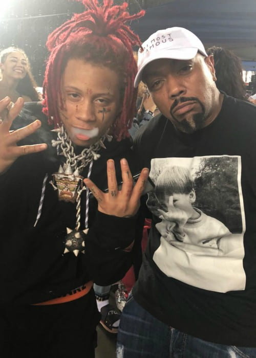 Timbaland (Right) and Trippie Redd as seen in May 2018