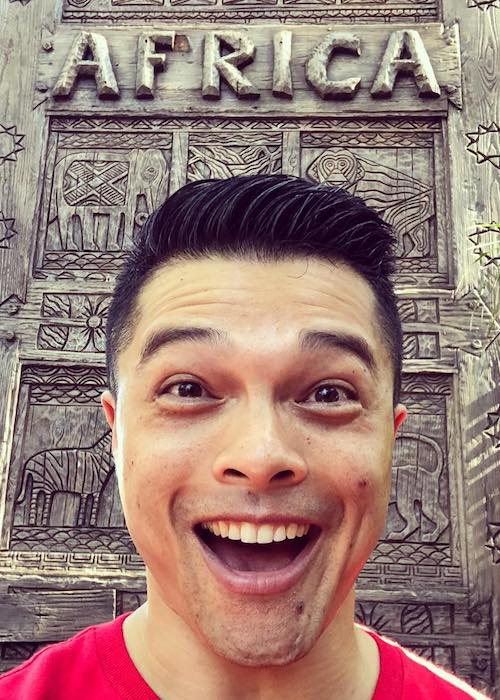 Vincent Rodriguez III in an Instagram selfie in May 2018 at Disney's Animal Kingdom