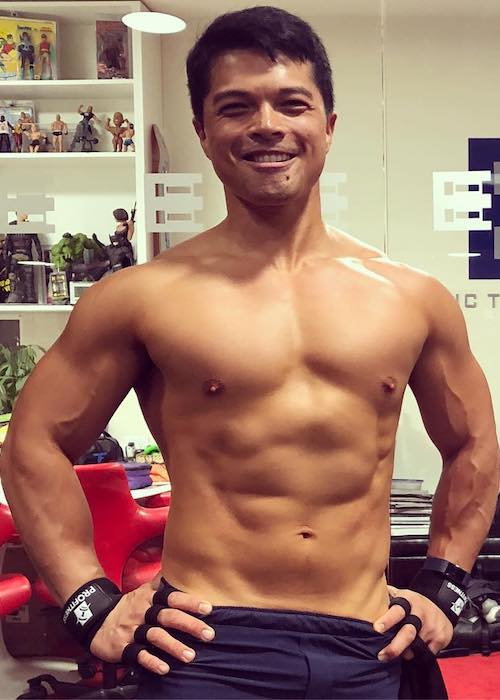 Vincent Rodriguez III shirtless body as seen in July 2018