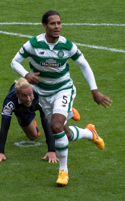 Virgil van Dijk for Celtic F.C. in a match against Ross County in 2015