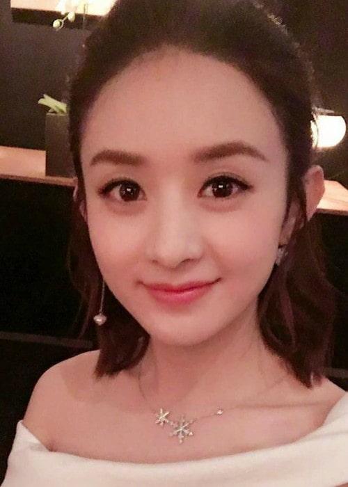 Zhao Li Ying in an Instagram selfie as seen in August 2017