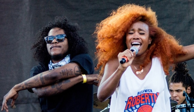 Ab-Soul (Left) while performing with SZA at the 2015 AfroPunk festival in Brooklyn, New York