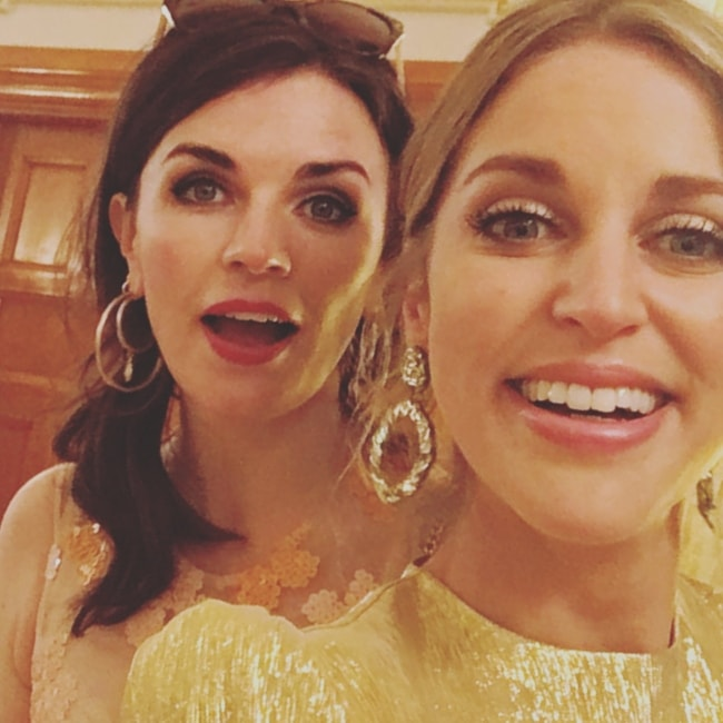 Aisling Bea in a selfie with Amy Huberman in July 2018