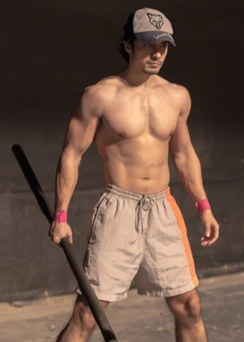 Ali Zafar shirtless body at display in July 2018