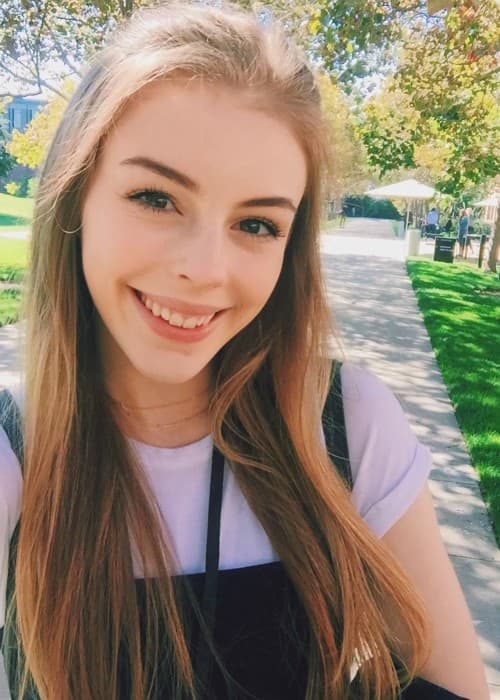 Amelia Gething in a selfie as seen in November 2017