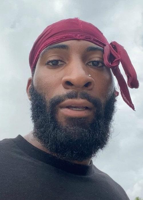 Andre Drummond in an Instagram selfie as seen in May 2020