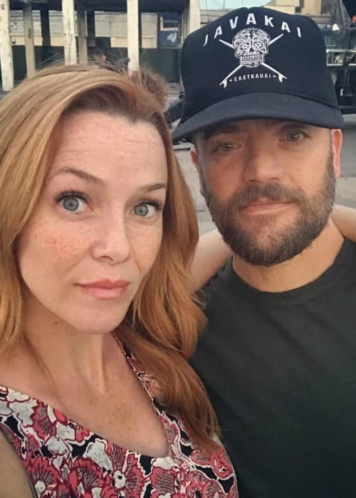 Annie Wersching and Kevin Weisman as seen in July 2018