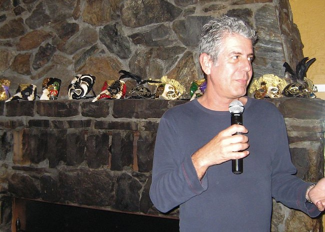 Anthony Bourdain during a book signing event in 2007