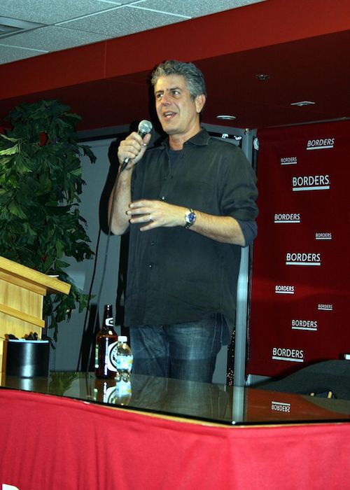 Anthony Bourdain while speaking during a conference in 2007