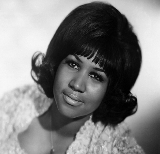 Aretha Franklin as seen during her early years as an artist