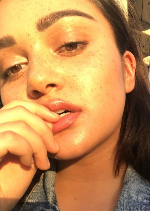 Ariela Barer in an Instagram selfie as seen in July 2017