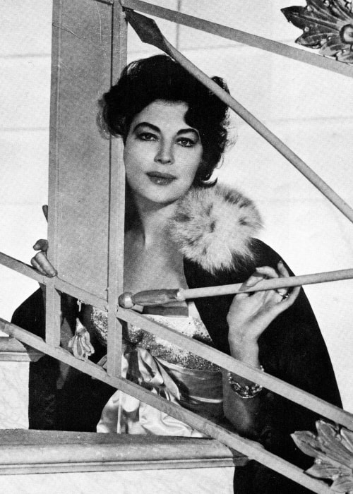Ava Gardner exposing her surreal beauty to the camera