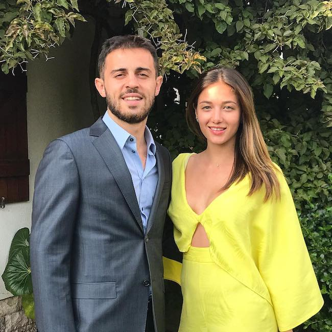 Bernardo Silva with girlfriend Alicia Verrando in 2018 at Portugal