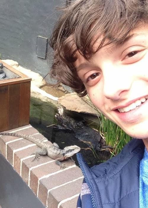 Caleb Logan Leblanc in a selfie in September 2015