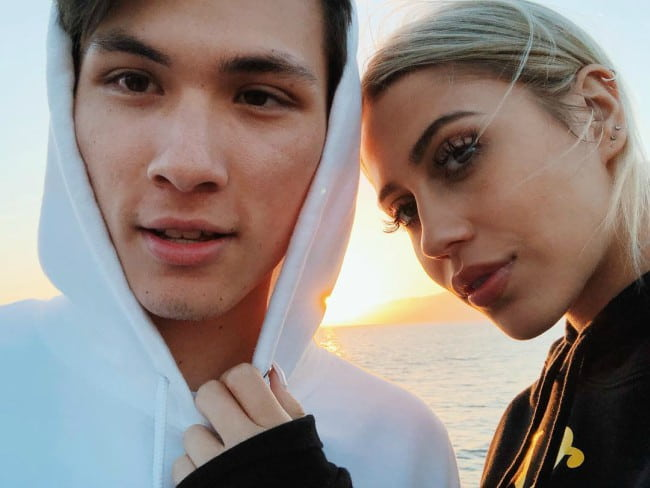 Carter Reynolds and Demi Plaras in a selfie in May 2018