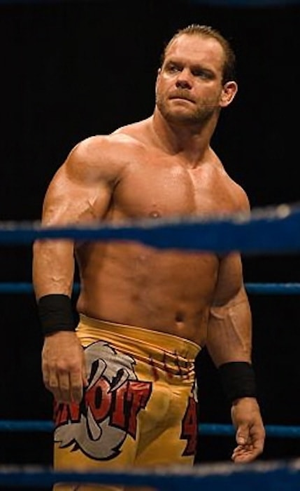 Chris Benoit at a live event inside the ring in Thailand in 2007