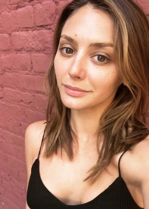 Christine Evangelista in a no-makeup selfie in July 2018