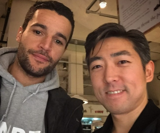 Christopher Abbott (Left) as seen in March 2018 at Flatiron District, NYC