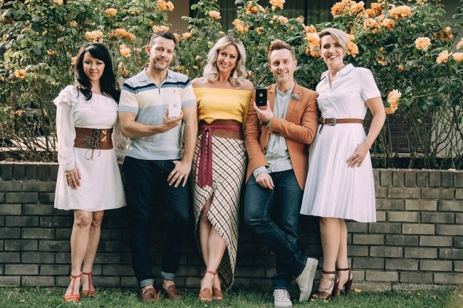 Claire Richards (Corner Right) with her 'Steps' bandmates