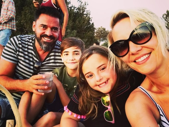 Claire Richards with her family during their vacation in Ibiza in August 2018