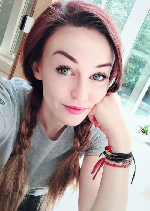 Clare Siobhan Callery in a selfie in July 2018