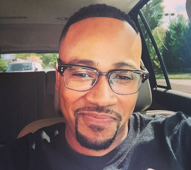 Columbus Short in a selfie after a new haircut in October 2014