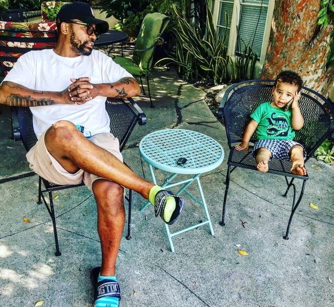 Columbus Short with his son Denzel in August 2018