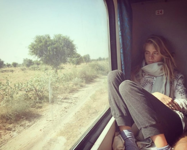 Cressida Bonas during her trip to India in 2017
