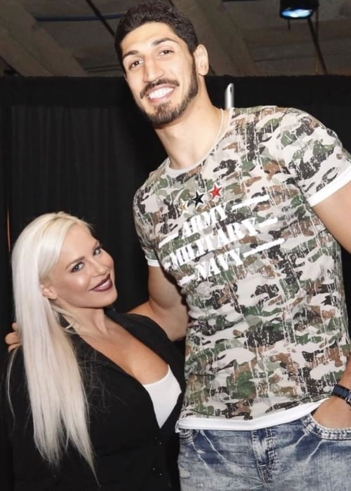 Dana Brooke with Enes Kanter in July 2018