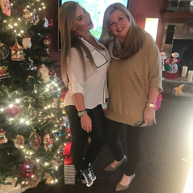 Dana Brooke with her mother during the Christmas holidays in December 2017