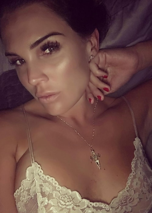 Danielle Lloyd as seen in a selfie in July 2018
