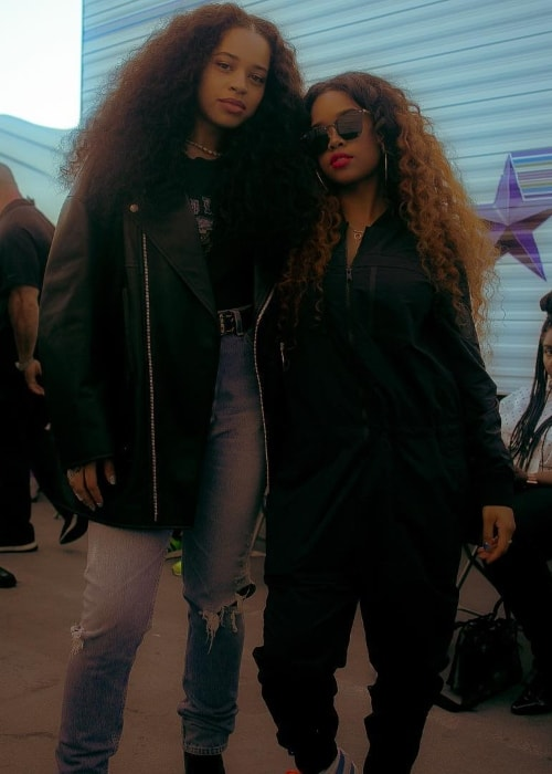 Ella Mai (Left) with singer H.E.R. in July 2018