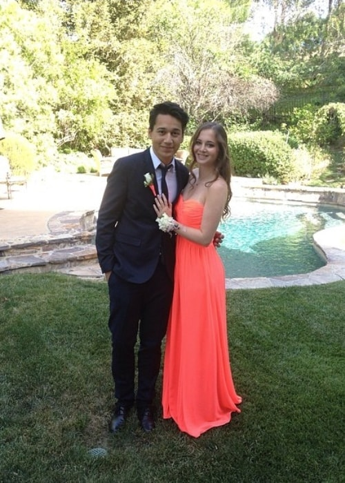 Emma Taylor dressed up for prom with Adrian Cota in May 2014