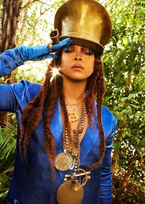 Erykah Badu during a photoshoot for BUST magazine for their June 2018 issue