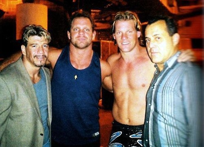 [From Left] Eddie Guerrero, Chris Benoit, Chris Jericho, and Dean Malenko