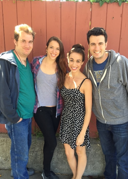 From Left to Right- Trent Ballinger, Rachel Ballinger, Colleen Ballinger, and Christopher Ballinger in Santa Barbara in 2015