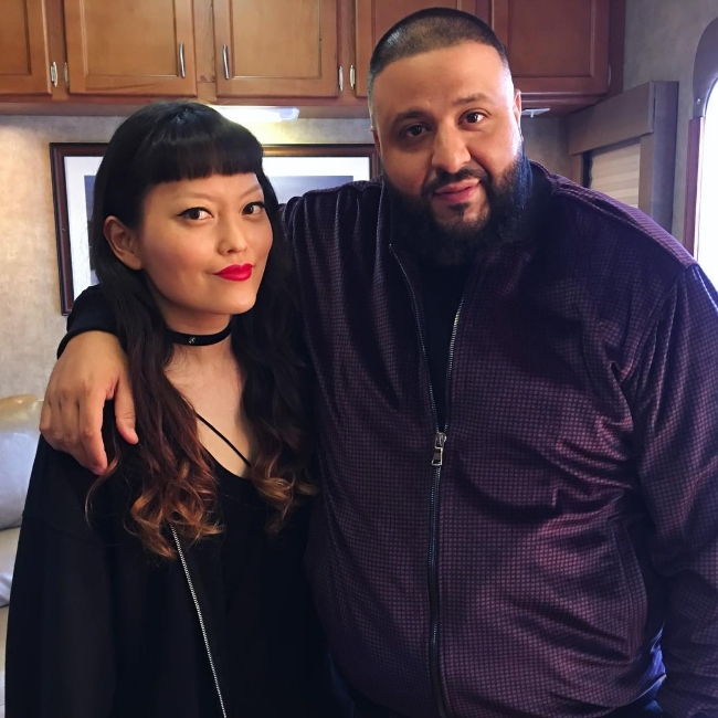 Hana Mae Lee with DJ Khaled as seen in March 2017