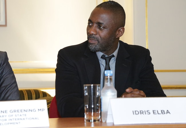 Idris Elba during the 'Defeating Ebola in Sierra Leone' conference in 2014