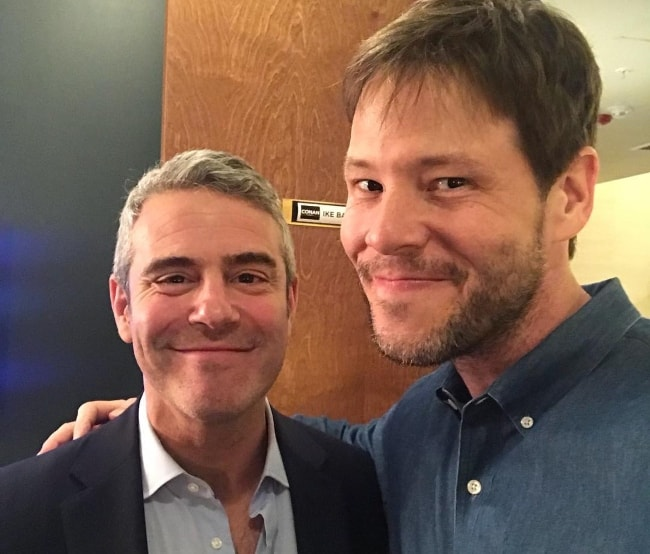 Ike Barinholtz (Right) with Andy Cohen in April 2018