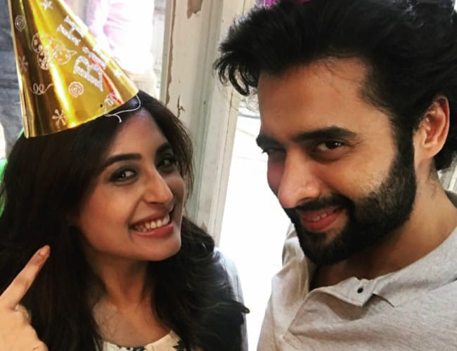 Jackky Bhagnani and Kritika Kamra in a selfie in October 2017