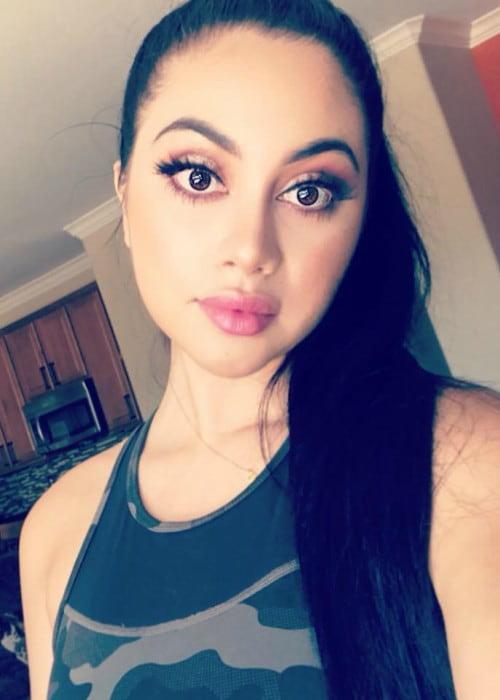 Jailyne Ojeda Ochoa in an Instagram selfie as seen in July 2018