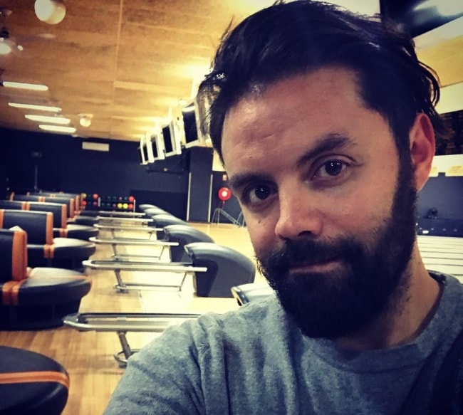 Jason Belmonte in a selfie before his bowling practice in July 2018