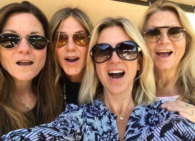 Jennifer Aniston with friends